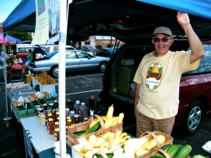 John Schick at the Sandusky Farmers Market.
